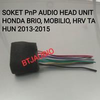SOCKET/SOKET AUDIO/TAPE HEAD UNIT HONDA BRIO,MOBILIO,HRV THN 2013-2015