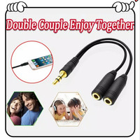Kabel audio Jack Aux 3.5 mm Spliter Cable Male To Dual Female