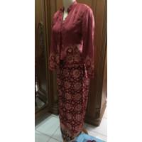 Baju pesta / baju kurung sutra jumputan songket palembang