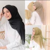 Hijab Segiempat Voal Ultrafine Polos Bahan Original