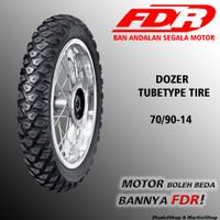 BAN DEPAN MOTOR MATIC FDR TUBETYPE DOZER 70/90-14 ORIGINAL TIRE