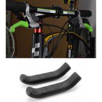 Pelindung Handle Rem Sepeda Silikon 2pcs - Hitam