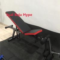 Adjustable Bench bangku gym fitness bowflex bench press sit up legcurl