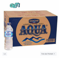 aqua botol 600ml 600 ml (khusus grab/gojek)