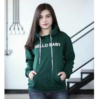 Sweater Hoodie Wanita 'Hello Baby'   Baju Sweater Cewek Fashion