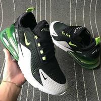 Sepatu Nike Air Max Airmax 270 Black Grey Green Hijau Premium