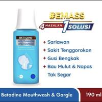 Betadine Kumur 190ML Betadine Mouthwash & Gargel obat sariawan
