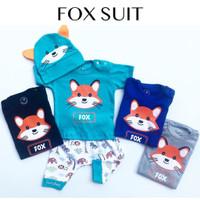 Fox Suit / Setelan Bayi Lucu Murah / Baju Kaos Bayi