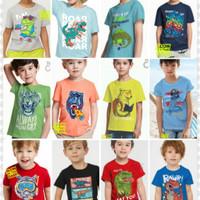 Baju Kaos Anak Laki laki / Baju Anak Laki PaperCranes Glow in The Dark - Size 1