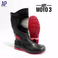 sepatu boots karet merk AP, art moto 3
