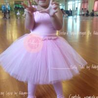 Baju Balet Set Tanpa Stoking Ballet Anak Tutu Rok Balet