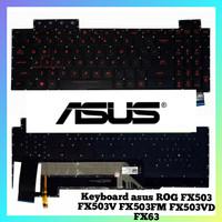 Keyboard Asus ROG FX503 FX503V FX503VM FX503VD FX63 Red Blak Backlite