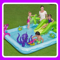 Bestway 53052 Aquarium Mainan Anak Kolam Renang Karet Balon Tiup