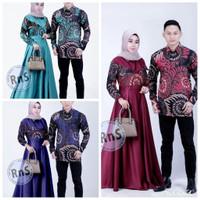 baju cauple gamis syar'i sarimibit Batik pria wanita New