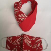Set Masker dan Bandana Premium Kain Batik Custom Product