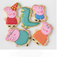 Peppa Pig 2 - kukis hias lucu / butter cookies / icing sugar