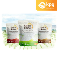 Rice 'N Shine Tepung Beras Organik 250gr (merah, putih, cokelat)