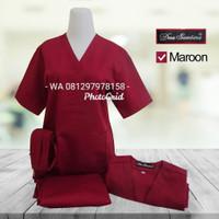 Baju OK /Lengan Pendek /Maron /Merk Dua Saudara - XS