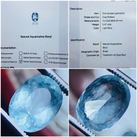 natural aquamarine beryl