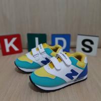 Sepatu Anak IMPOR,asics PEREKAT, size 22-33, Premium quality - NB biru, 22