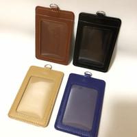 Id Card Holder Kulit ID Card Nametag Kulit 2 Slot / Badge ID - Kuning