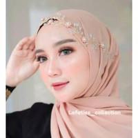 headpiece hijab wedding aksesoris wisuda pesta wanita