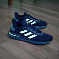 Sepatu Pria Adidas Supernova Boost Black White Stabilo Original BNWB