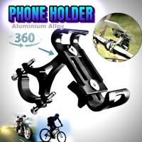 holder hp sepeda motor phone universal full aluminium Alloy V2
