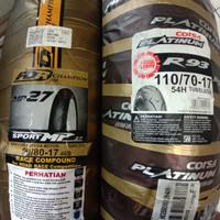 ban Corsa R93 110/70-17 plus ban FDR 90/80-17 MP27 soft compound