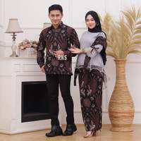 Couple Batik Kebaya Set Burkat Modern/Set Kebaya Baju Pesta/Kebaya