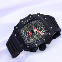 Jam tangan Pria RM Richard Mile crono aktif super mewah Tali Rubber