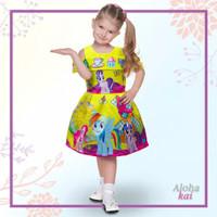 baju dress anak import baju pesta karakter kuda poni