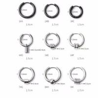 Anting earring stainless Ring Hook variasi tipe 1-9