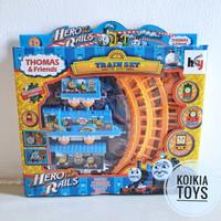 Mainan kereta api thomas dengan rel thomas train set
