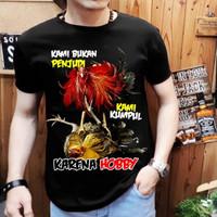 Baju Kaos Distro Pria Ayam Bangkok Demi Hobby GOOD QUALITY