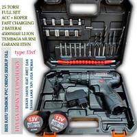 mesin bor baterai 13vf japan uchiha obeng elektrik cordless drill