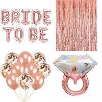 Dekorasi Bridal Shower Balon Set Perlengkapan Pesta