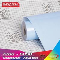 Maxdecal 7200-G058 Aqua Blue Sticker Lampu Motor