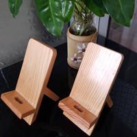 Docking kayu Sepasang untuk Hp, Tatakan HP Sepasang