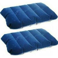 bantal tiup outdoor neck pillow biru tua TaffSport 46x30cm