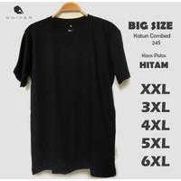 Kaos Pria Polos Hitam Jumbo Big Size XXL 3XL 4XL 5XL 6XL Quiver