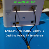 Kabel Pigtail Modem Home Router Huawei B310 B315 Dual Sma Male