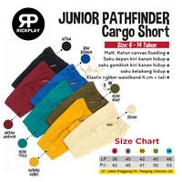 Celana pendek cargo anak junior Pathfinder rickplay sz 6-14