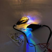 Lampu Sen Sein Led Model New Variasi Senja RGB Flash Motor Universal