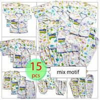 Set baju dan celana bayi 15 pcs newbron