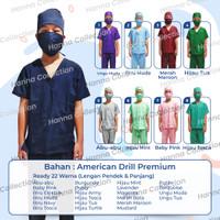 Baju perawat/jual baju medis - Hijau, S