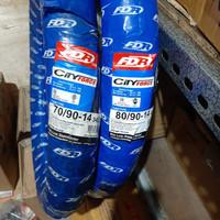 BAN LUAR FDR CITY FORCE 70/90-14+80/90-14 SEPASANG TUBETYPE