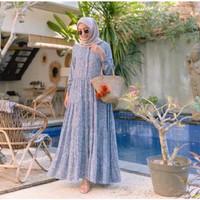 Gamis Wanita Rintik Fashion Muslimah Bahan Katun Rayon