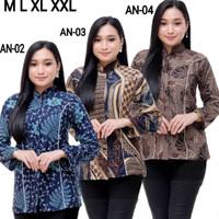 Baju batik blouse model slimfit | baju batik atasan wanita slimfit