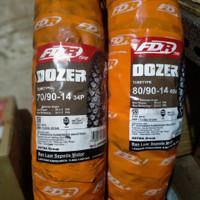 BAN LUAR FDR DOZER 70/90-14+80/90-14 SEPASANG TUBETYPE KEMBANG CROSS